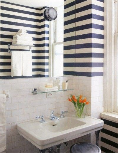 striped wallpaper bathroom best 25 striped walls horizontal ideas only on pinterest
