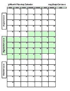 2015 Three Month Calendars   Freeology