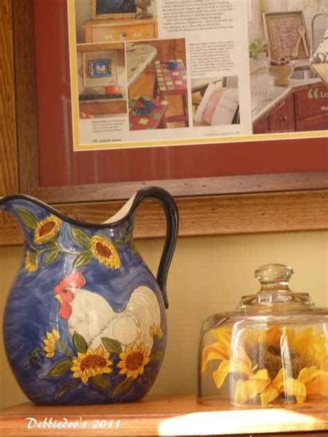 rooster kitchen decor country debbiedoos