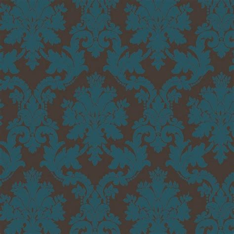 chocolate damask wallpaper arthouse opera byron damask wallpaper teal chocolate