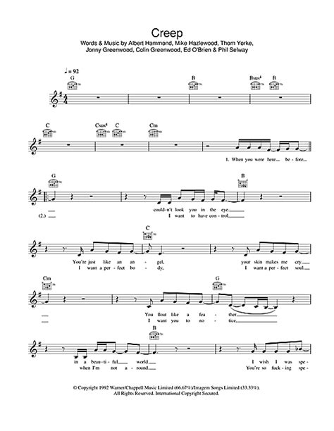 tutorial piano creep creep chords by radiohead melody line lyrics chords