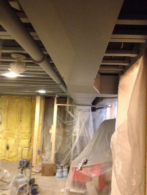 Exposed Ductwork Ceiling by 12 Best Images About Basement Refinish On