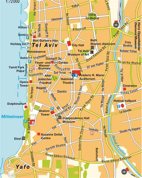 middle east map tel aviv map tel aviv yafo gusch dan maps and directions at map
