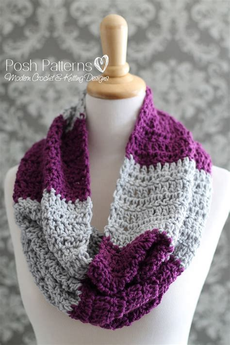 crochet pattern infinity scarf easy crochet pattern infinity scarf pattern easy striped cowl