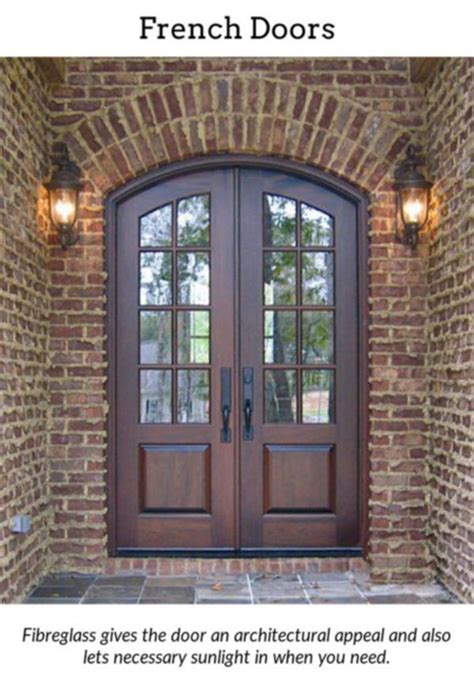 french doors incorporate  bit  charm   home