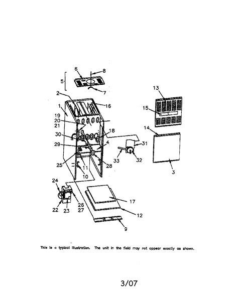 trane furnace parts diagram trane gas furnace parts model tud100c948h1 sears
