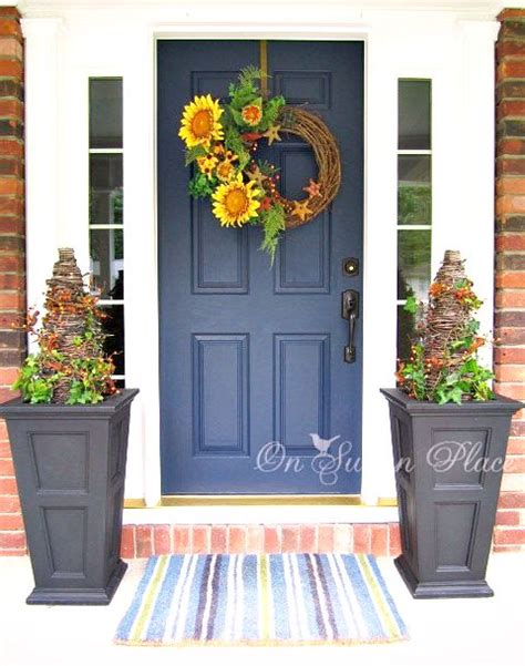 front door decorations 67 cute and inviting fall front door d 233 cor ideas digsdigs
