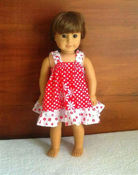 pattern clothes doll easy sundress sewing pattern for american dolls sewing