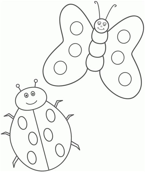 imagenes de mariposas y mariquitas free e insects coloring pages
