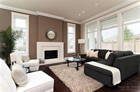 White L Shade Black Trim by гостиная в коричневых тонах интерьер и дизайн советы