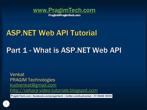 tutorial on web api sql server net and c video tutorial what is asp net