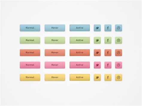 social network layout psd colorful social networking buttons psd psd file free