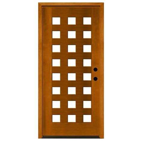 24x80 Exterior Door Steves Sons 36 In X 80 In Modern 24 Lite Obscure Stained Mahogany Wood Prehung Front Door