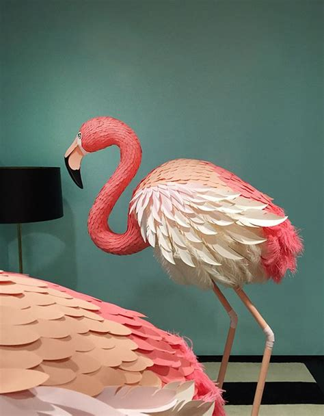 How To Make A Flamingo Out Of Paper - paper flamingo http lomets