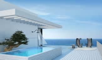 Ocean View House Plans Tel Aviv Penthouse Patio And Pool Interior Design Ideas
