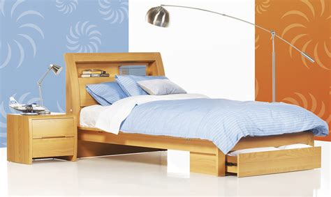 single size bed benton beech timber king single bed bedshed