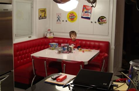 Dining Table Bench Seat With Storage L Shaped Diner Booths Restaurant Diner Kitchen 1950 S