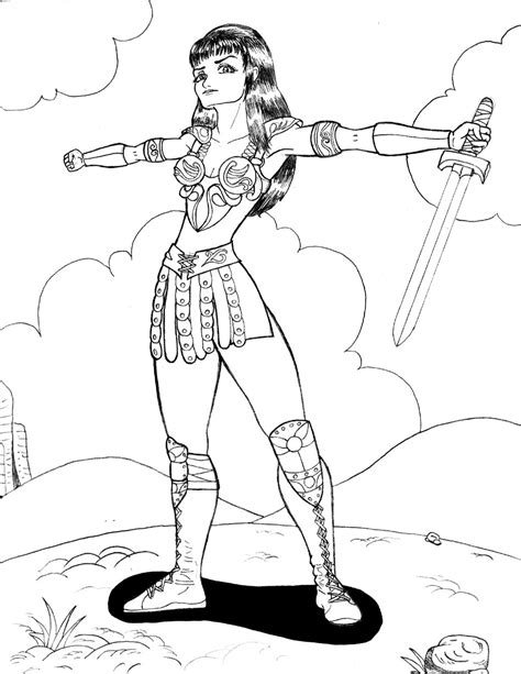 warrior princess coloring pages xena warrior princess coloring pages coloring pages
