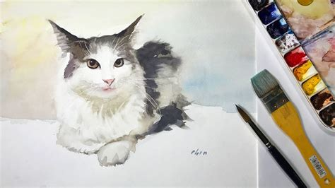 How To Paint Cat S Whiskers In Watercolor 1