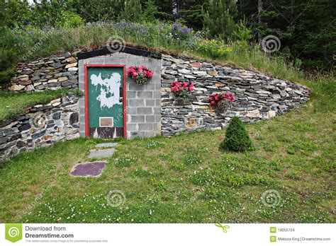 Earth Sheltered Home Plans doorway to underground home stock images image 18055704