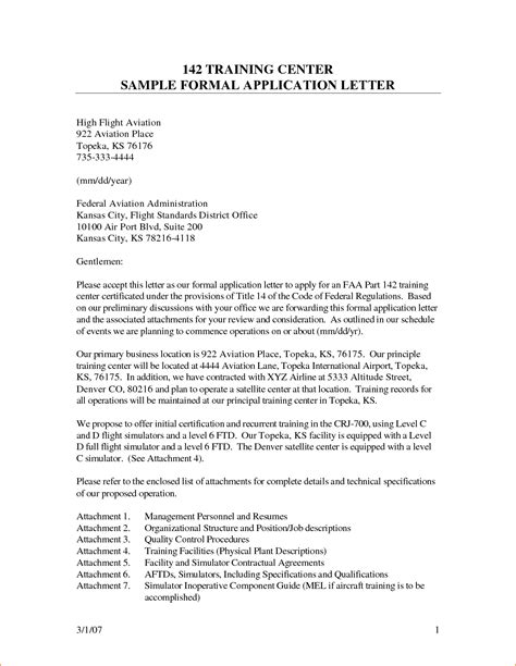 Official Letter Of Employment 11 Formal Application Letter Format Basic Appication Letter