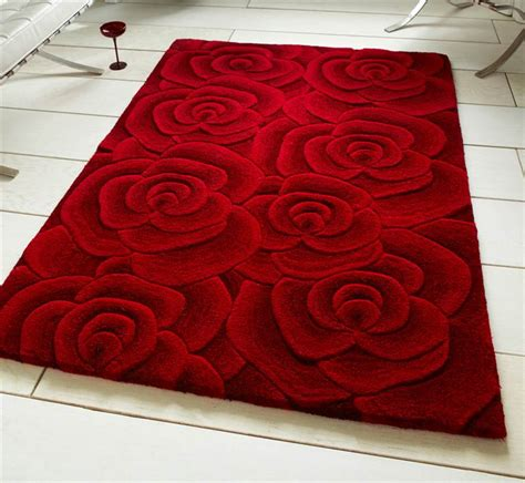 Rugs With Roses On Them modern luxury wool rug with large flowers roses design