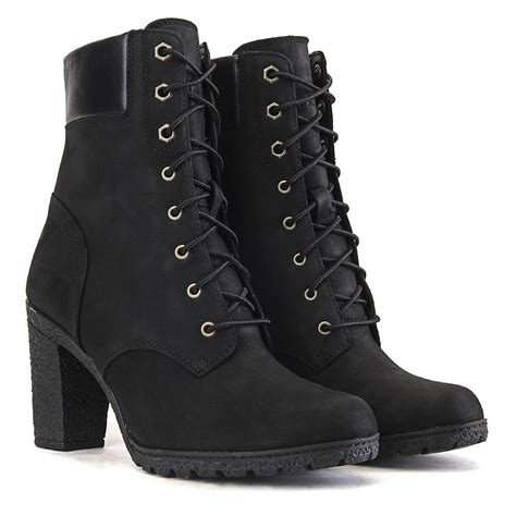 timberland boots for womens high heels timberland glancy 6 in s black low heel ankle boots