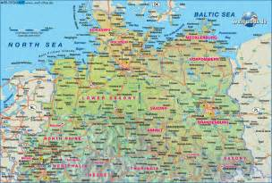 Map Of Northern Germany map of northern germany germany map in the atlas of