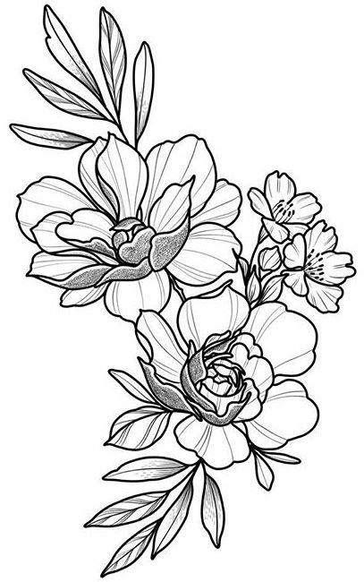 Flower Power Tattoos floral design drawing beautifu simple flowers