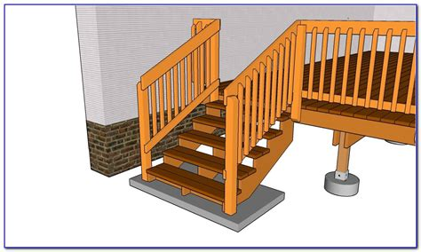 Build Stair Railing Build Deck Stair Railing Decks Home Decorating Ideas