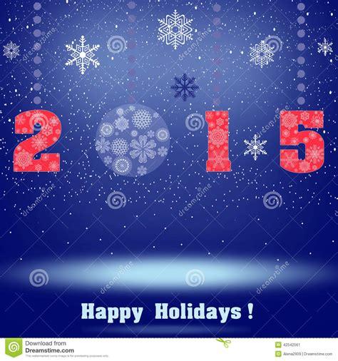when do new year holidays finish 2015 happy stock illustration image 42542561