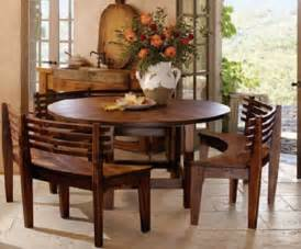 Round dining table bench home design ideas