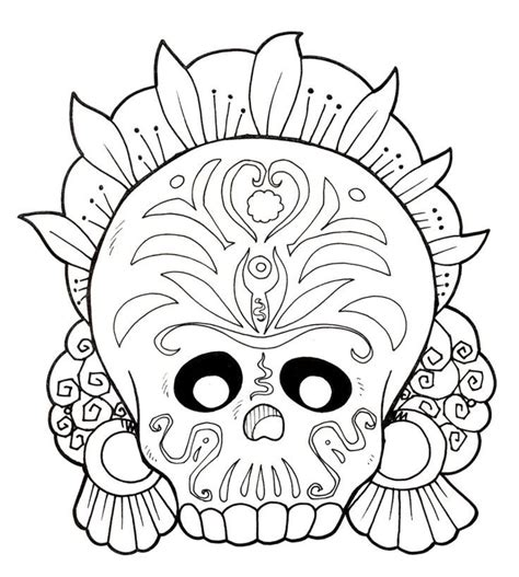 dia de los muertos skull coloring pages az coloring pages