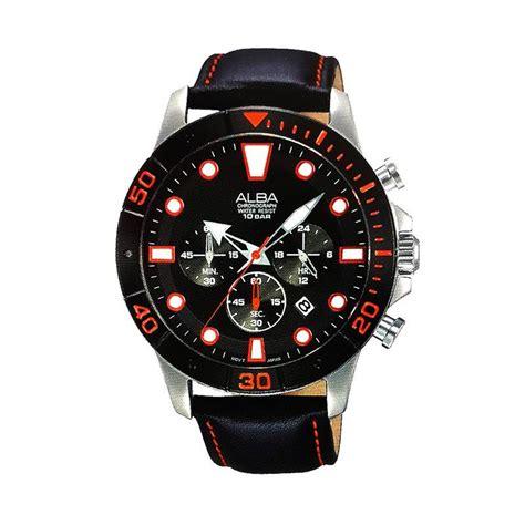 Jam Tangan Alba Rantai Jam Alba 3 jual alba chronograph at3a15 tali kulit jam tangan pria hitam harga kualitas
