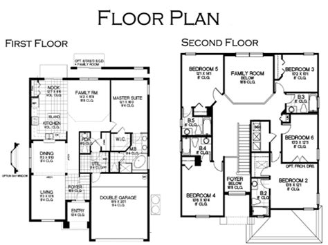 6 bedroom floor plans for house floor plan vacation home at solana resort