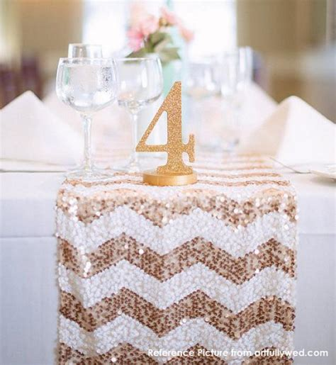 Bridal Shower Tablecloths by Chevron Sequin Table Runner Ready To Ship Sparkly Wedding