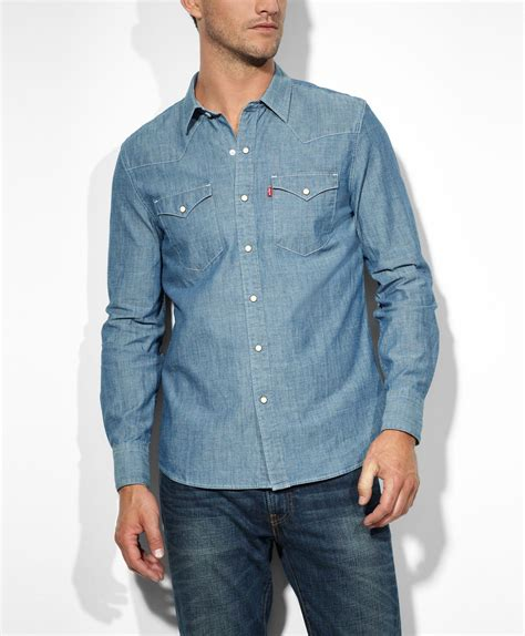 barstow western shirt chambray western shirts levis