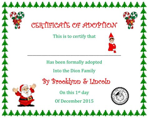 printable elf on the shelf certificate elf on the shelf way off script