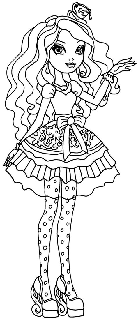 ever after high coloring pages by elfkena madeline hatter by elfkena on deviantart coloriage paper