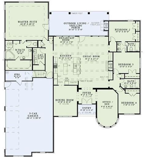 Best 25 4 Bedroom House Plans Ideas On Pinterest 4 Bedroom House Plans With Office