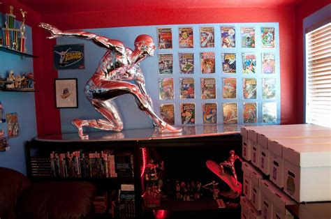 finally my home office the quot marvel room quot is complete silver surfer comic vine