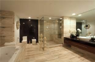 modern tiled bathrooms master bathroom with vessel sink drop in bathtub in fort