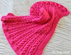 the craft patch cable knit baby blanket