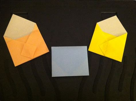 How To Make An Envelope Out Of Construction Paper - mini origami envelopes