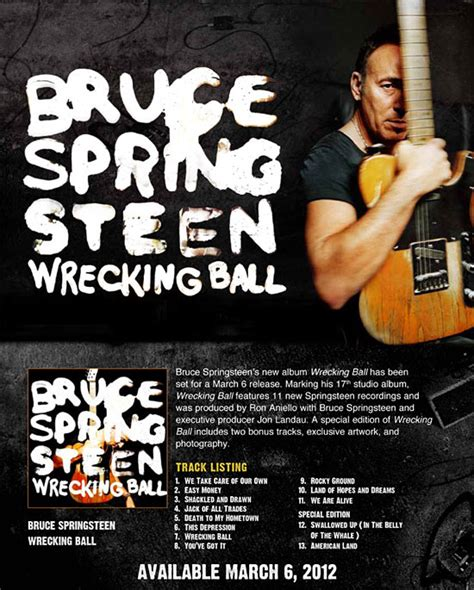 Band One Sheet Template by Backstreets Springsteen News Archive Feb 2012