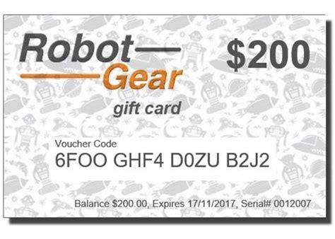 200 Gift Card - gift card 200 robot gear australia