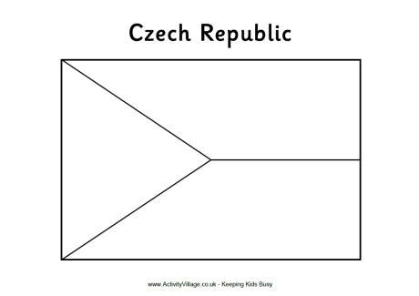 czech republic flag colouring page