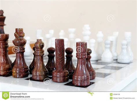 chess pieces  ceramic board stock photo image