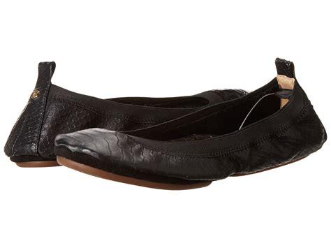 flat fold up shoes yosi samra samara croco embossed leather fold up flat