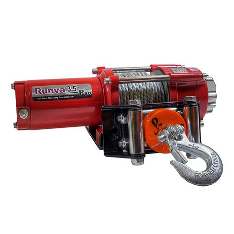 Runva Electric Winch Ewg 6000 runva 3 500 lbs capacity 12 volt electric winch with 42 ft steel cable deluxe package 3